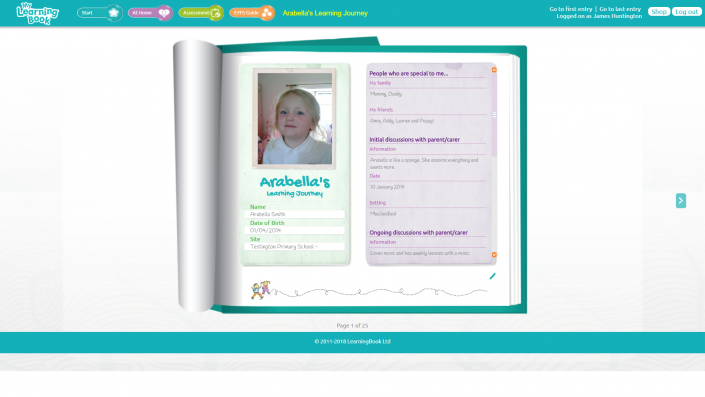 MyLearningBook - All About Me
